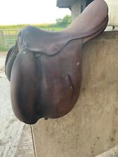 "17.5"" Brown Leather Saddle, Ideal Breaking Saddle"