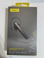 Jabra Talk 45 Bluetooth Headset Noise Cancelling Voice Control New Sealed