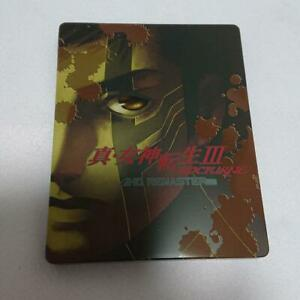 Shin Megami Tensei 3 NOCTURNE geo limited steel book only no game