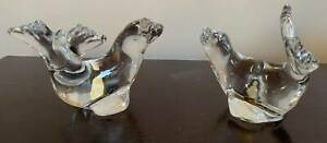 Pair of Kosta Boda Art Glass Sealions (Limited Edition, C1970)