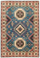 "Hand-knotted Afghan Carpet 6'8"" x 9'9"" Finest Gazni Traditional Wool Rug"