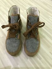 Sorel women's Suede winter waterproof boots, Colour Beige /grey, size UK 6.5