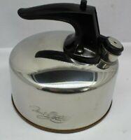 Vintage Revere Ware Copper Bottom Whistling Tea Kettle 3.5 Qt CU03 no dents