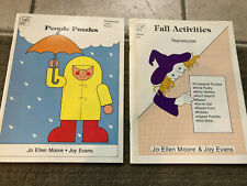 Lot Evan-Moore Preschool Primary Activity Books Fall Activities + People Puzzles