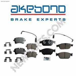 For Audi A6 A7 Quattro Front & Rear Disc Brake Pad Sets Akebono Euro