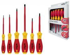 WIHA 6 Pc Electricians VDE 1000v Insulated Slot & Phillips Screwdriver Set,00833