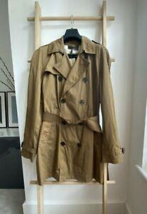 100% Authentic BNTW Burberry Brit Mid Length Trench Coat Khaki Green L