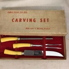 Sheffield Stainless Steel Carving Set. E. Parker and Sons, 3 piece