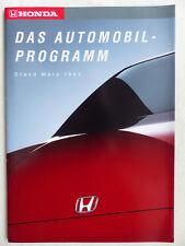 Honda Automobil-Programm '93 - NSX CRX Civic Accord - Prospekt Brochure 03.1993