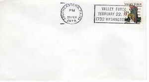 VALLEY FORGE SLOGAN CANCEL, SOUTHEASTERN, PA 1979  FDC9779
