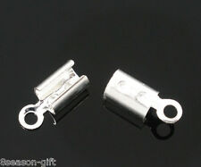 300 SP Necklace/Cord Crimp End Caps Tips W/Loop 8x3mm