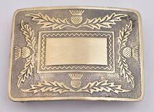 Traditional Scottish Thistle Kilt Belt Buckle Antique Finish/Thistle Belt Buckle