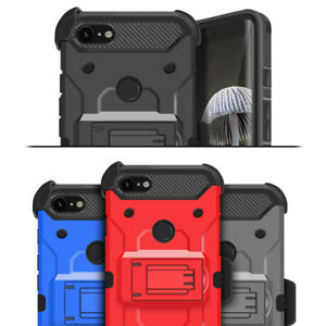 For Google Pixel 3 / 3 XL / 2 XL Holster Case Rugged Heavy Duty Kickstand Cover