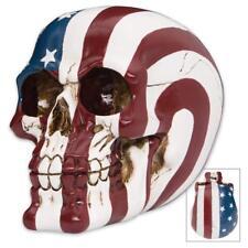Ol' Glory Bones American Flag Skull - Expertly Crafted High Quality Polyresin!