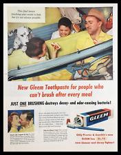 1955 Gleem with GL-70 Toothpaste Vintage Print Ad