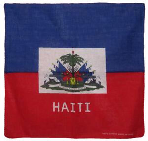 """Wholesale Lot 12 Haiti Country 100% Cotton 22""""x22"""" Bandana"""