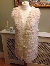 ASOS Cream Wool Gilet BNWT Size 10 RRP £50!! Boho Festival