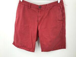 """Columbia PFG Shorts Mens 34 Red Chino Adult Fishing Fish Outdoor Pockets 10"""""""