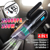 250W 250000PA Handheld Cordless Car Vacuum Cleaner Wet&Dry Dust Cleaner Hom