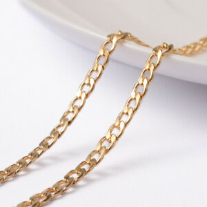 1 Roll/10m Golden Stainless Steel Unwelded Twisted Chain Curb Chains 5x3x0.8mm