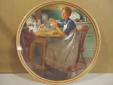 """Norman Rockwell """"Working in the Kitchen""""Limited Edition  Collector Plate"""