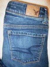 American Eagle Super Skinny Stretch Womens Dark Blue Jeans Size 00 S x 26 Mint