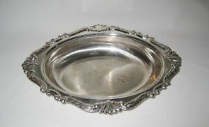 """Vintage SHERIDAN Silver Plate Oval Bowl Serving Dish Inner- 9""""x6.5"""""""