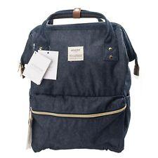 anello Japan Denim Navy Regular Size Rucksack Laptop Backpack Cotton Bag 180122
