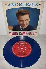 """7"""" DARIO CAMPEOTTO - ANGELIQUE - SXP3091 - BLUE - SONET EP"""