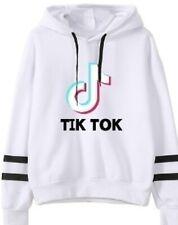 New  White TIK Tok Hoodie Hooded Sweatshirt-Never Worn (Size S)