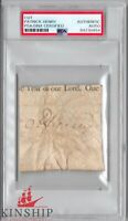 Patrick Henry signed cut PSA DNA Slabbed Auto Founding Father d.1799 Rare C531