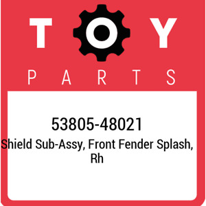 53805-48021 Toyota Shield sub-assy, front fender splash, rh 5380548021, New Genu