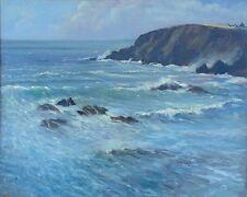 "Original Michael Richardson aceite ""onshore brisa"" MarГtimo en paisaje marítimo Pintura"