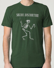social distortion T-shirt olive