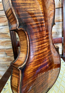 Rare, ITALIAN old, antique 4/4 labelled MASTER violin - READY TO PLAY!
