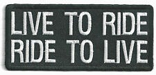 LIVE TO RIDE, RIDE TO LIVE - IRON-ON PATCH