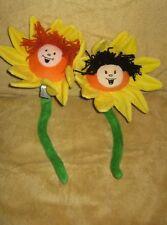 """18"""" Plush Flower Kids Smiley Face Flower Poseable Plush"""