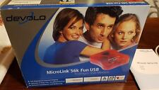 Devolo 1047 MicroLink 56k Fun USB Modem Rot Analoges System Treiber Tools OVP