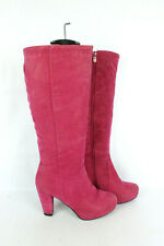 Boots Suede Synthetic Pink T 38/UK 5 Good Condition
