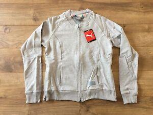 2020 Puma Women's Bomber Full Zip Jacket Gray Heather SZ Small ( 595845 03 )