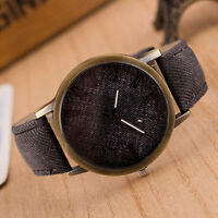 Retro Men's Quartz Watch Analog Stainless Steel Classic Leather Band Wrist Watch