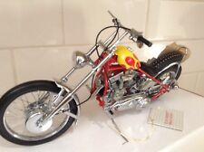 """FRANKLIN MINT EASY RIDER HARLEYDAVIDSON MOTORCYCLE - """"The BILLY BIKE"""" with HAT"""