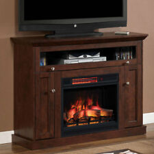 Windsor Infrared Electric Fireplace Media Cabinet in Antique Cherry