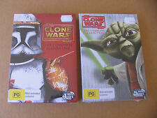 STAR WARS :THE CLONE WARS DVD  SEASON 1 & 2 with booklets