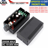 1x 12V 24V 48V 2000W MAX 10-50V 40A DC Motor Speed Control PWM HHO RC Controller