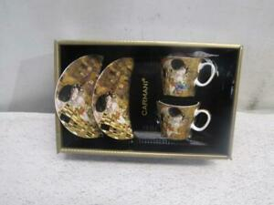 Carmani Gustav Klimt The Kiss 532-0301 Set of 2 Mugs With Saucer