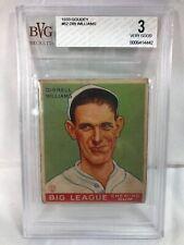 1933 Goudey #82 Dibrell Williams BVG 3 Very Good Philadelphia Athletics