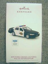 New 2018 Hallmark 2011 Ford Crown Victoria Police Interceptor Ornament