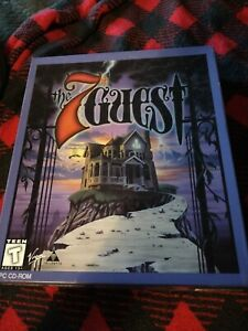 7TH GUEST Vintage PC Game Complete sealed CD-ROM 1992 Virgin  Horror Big Box.