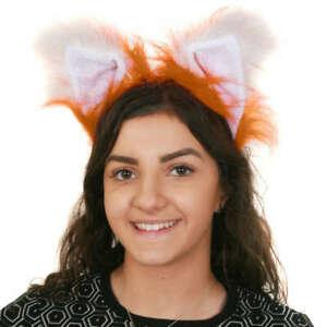DELUXE FOX EARS SCHOOL BOOK WEEK FANCY DRESS HALLOWEEN COSTUME ACCESSORY